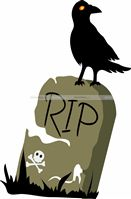 Halloween Decor theme RIP cutout