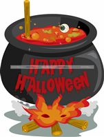 Halloween Decor theme Witch cauldron poster
