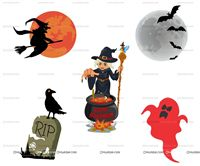 Halloween theme  - Halloween Theme Poster Pack of 5