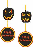 Halloween Decor theme Pumpkin danglers