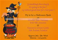 Halloween theme Witch based invitation