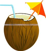 Hawaiian theme Coconut drink poster