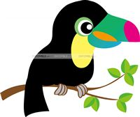 Hawaiian theme Toucan Bird cutout