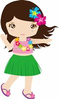 Hawaiian theme Dancing girl poster