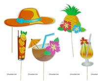 Hawaiian theme Photo Booth Props