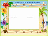 Hawaiian theme Photo Frame