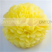 Yellow Paper Pom poms - Barnyard Birthday