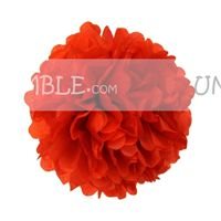 Red Paper Pom poms - Barnyard Birthday