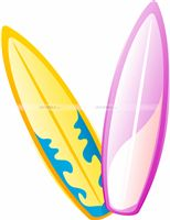 Hawaiian theme Surf Boards cutouts