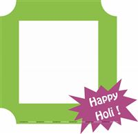 Holi Supplies theme Happy Holi Photo Booth Frame