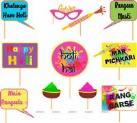Holi Supplies theme Holi Party Photo Props