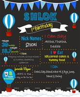Chalkboard posters - Hot Air Balloon Party