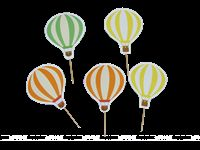 Cup cake toppers - Hot Air Balloon Party