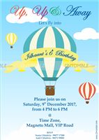 Hot Air Balloon Supplies theme Hot Air Balloon Birthday Invite