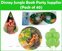 Jungle book theme  - Jungle Book Mowgli Party Kit (Pack of 40)