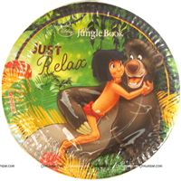 Jungle book theme  - Jungle Book Mowgli Party Plates (Pack of 10)