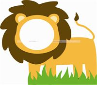 Lion face photo booth for kids