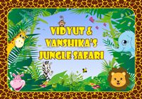 Jungle Birthday Supplies theme Backdrop