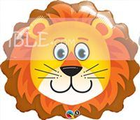 Cute Lion Face Foil Balloon - Jungle Safari