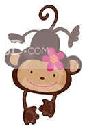 Cute Monkey Foil Balloon - Jungle Safari