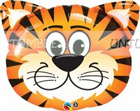Cute Tiger Face Foil Balloon - Jungle Safari