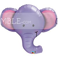 Jungle Safari Birthday theme Elephant Face Foil Balloon