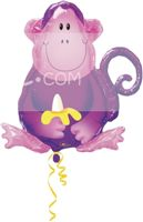 Baby Jungle theme Monkey with a Banana Foil Balloon