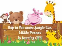 Jungle theme  - Jungle Animal Birthday Welcome Cutout