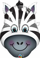 Jungle Safari Birthday theme Zebra Face Foil Balloon