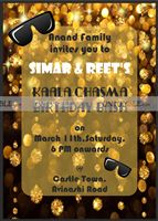 Kaala Chashma theme Rectangular Invitations