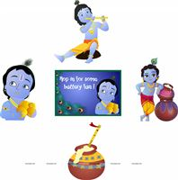 Little Krishna Birthday theme Posters pack of 5