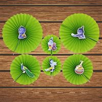 Little Krishna theme Krishna Party Paper Fan decorations