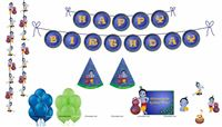 Little Krishna theme Krishna Super saver birthday decoration kit (Pack of 58 pieces)