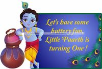 Little Krishna theme Krishna with pots poster