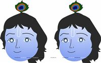 Little Krishna Theme Masks