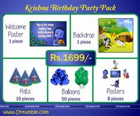 Little Krishna theme  - Little Krishna Theme Mini Party Pack
