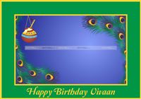 Placemats - Krishna Theme Birthday party supplies & decor