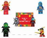 Lego Theme Poster Pack of 5