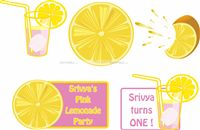 Lemonade Birthday Party  theme Lemonade Birthday Cutouts (price/ piece)