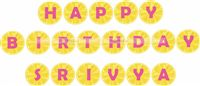 Lemonade Birthday Party  theme Lemonade Happy Birthday Bunting