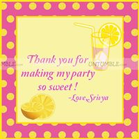 Lemonade Birthday Party  theme Lemonade Thank you Cards