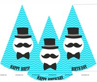 Birthday hats pack of 6
