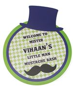 Little Man Birthday theme Entrance poster - Mustache Bash