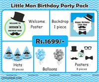 Little Man Theme House Party Kit