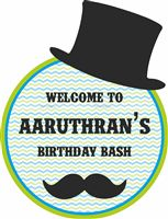 Little Man Birthday theme Entrance poster