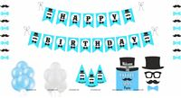 Party kits - Little Man Theme Party supplies | Mustache Themed 1st Birthday