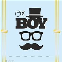 Little Man theme  - Oh boy Little Man birthday backdrop