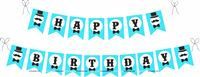 Little Man theme Little Min Bow tie Happy Birthday Banner