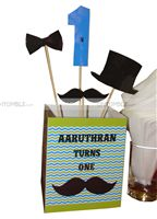 Little Man Birthday theme Mushtache Center Piece