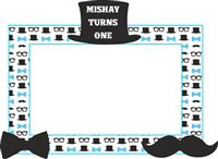 Little Man Birthday theme Photo Booth